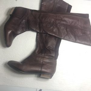 Steve Madden riding boots brown leather 6M